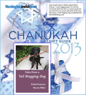 Washington Jewish Week Features our Children's Life Lessons Book by Ethel Frances (Ms. Dog) as Chanukah Gift