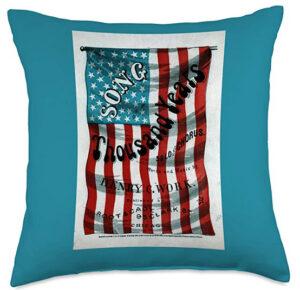 American Democracy Throw Pillow Song