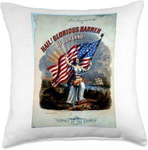 Collectible Sheet Music Art Democracy Pillow 1861